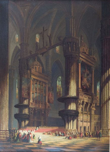 Interior of Milan Cathedral by Henry Schafer