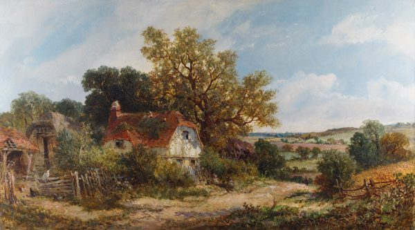 Cottage near Dorking by James Edwin Meadows