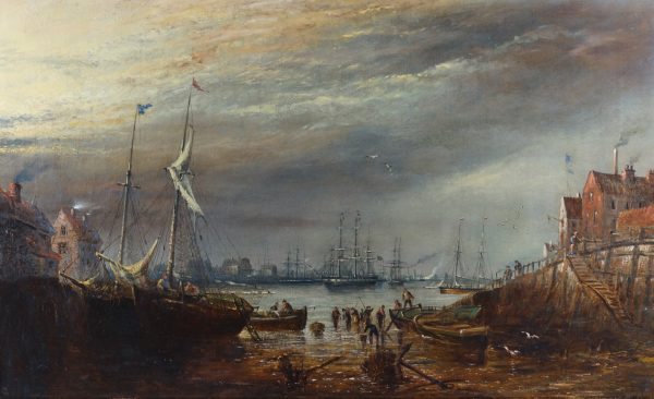 A Busy Harbour by Claude T. Stanfield Moore