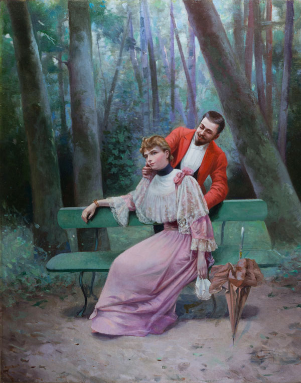 GAn Elegant Courtship by GIOVACCHINO GAMBERINI