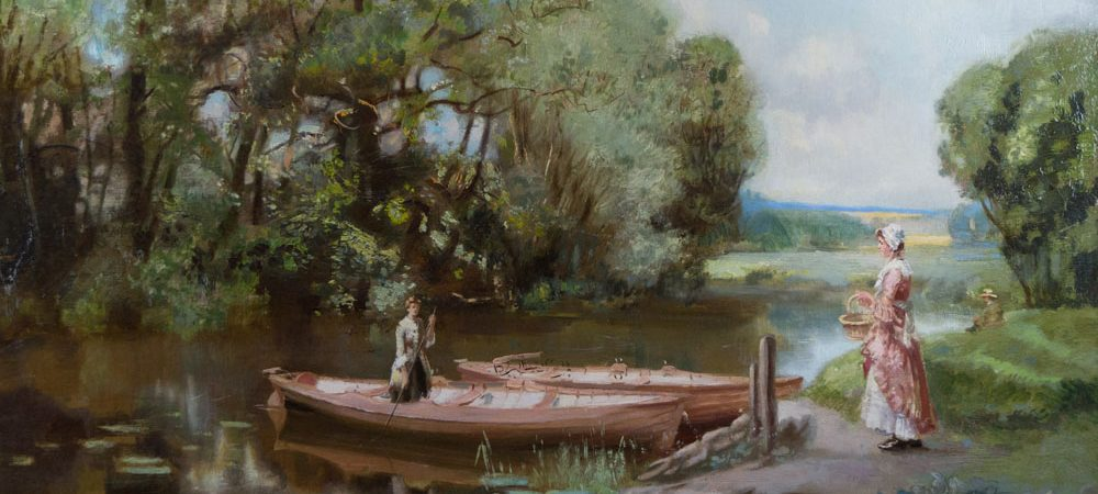 The River Ouse at Hollywell by John Lochhead