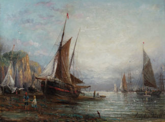 A coastal Sunset by Adolphus Knell