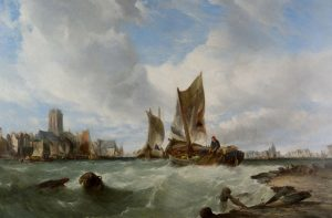 Fishing Boats off the Dutch Coast by Alfred Montague