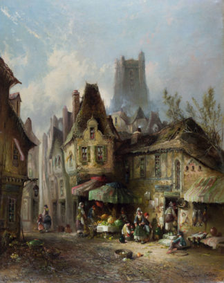 A Back Street in Rouen by Clifford Montague