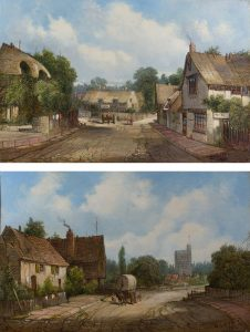A Village High Street by Alfred Henry Vickers