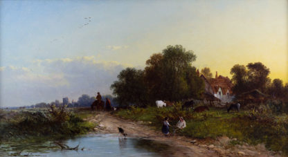 Evening by the River by George Augustus Williams