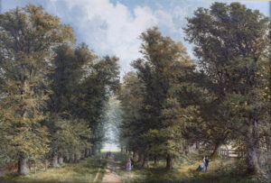 A Sunday Promenade, possibly Bishop's Walk JOHN ANDERSON of Coventry