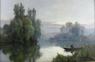 Evening on the Thames ALFRED FONTVILLE de BREANSKI