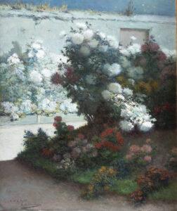A Moonlit Garden EUGENE HENRI CAUCHOIS
