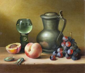 Peaches and a Ewer by BRIAN DAVIES