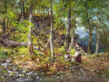 Gathering Kindling by HENRY JOHN YEEND KING, R.B.A., R.O.I.