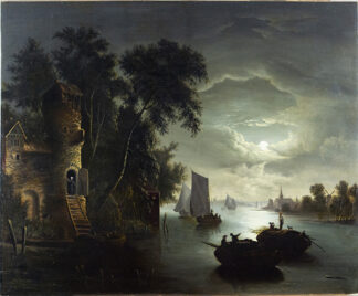 A Moonlight River Attributed to: ABRAHAM PETHER